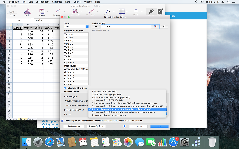 Free Analysis Toolpak Replacement | AnalystSoft | StatPlus